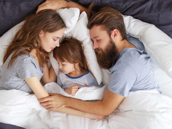 家族で眠る